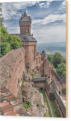 Wood Print featuring the photograph Haut-koenigsbourg by Alan Toepfer