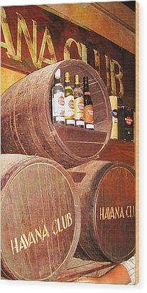 Havana Club Wood Print