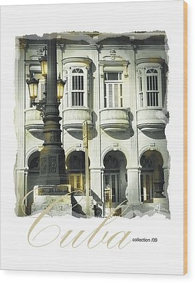 Havana Facade Wood Print by Bob Salo