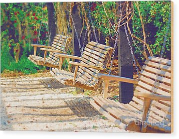 Wood Print featuring the photograph Have A Seat Relax by Donna Bentley