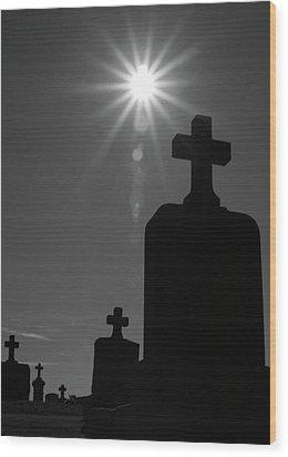 Have Faith...bw Wood Print by Karol Livote