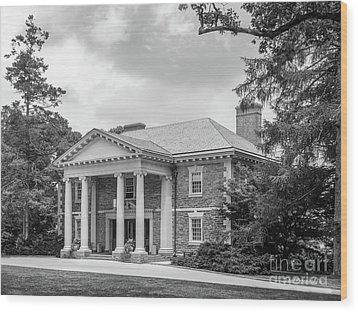 Haverford College Roberts Hall Wood Print by University Icons