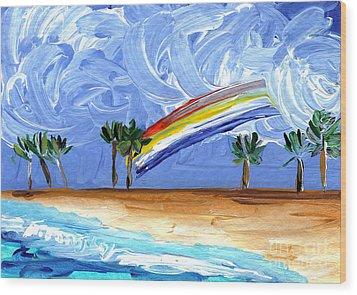 Hawaii 25 Wood Print by Helena M Langley