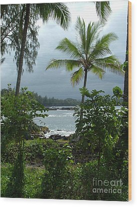Hawaii Wood Print by Garnett  Jaeger