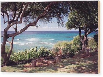 Hawaii Wood Print by Lori Mellen-Pagliaro