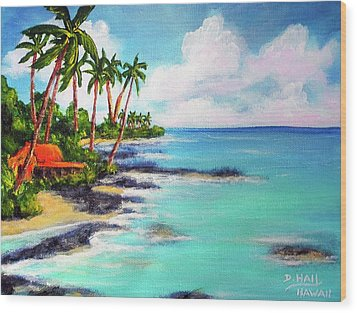 Hawaii North Shore Oahu #472 Wood Print by Donald k Hall