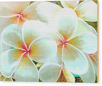 Hawaii Plumeria Frangipani Flowers #86 Wood Print by Donald k Hall