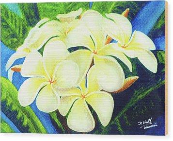 Hawaii Tropical Plumeria #158 Wood Print by Donald k Hall