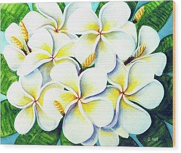 Hawaii Tropical Plumeria Flower #224 Wood Print by Donald k Hall