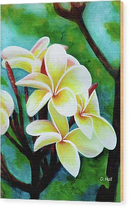 Hawaii Tropical Plumeria Flower #225 Wood Print by Donald k Hall