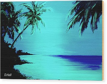 Hawaiian Beach Art Painting #188 Wood Print by Donald k Hall