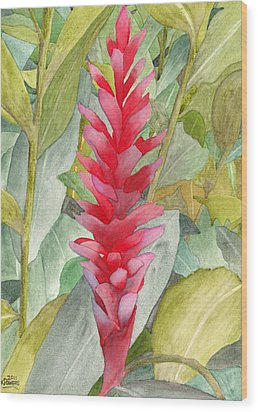 Hawaiian Beauty Wood Print