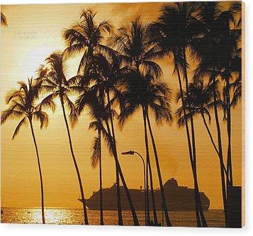 Hawaiian  Cruise Wood Print by Athala Carole Bruckner