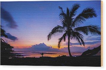 Hawaiian Dawn Colors Wood Print