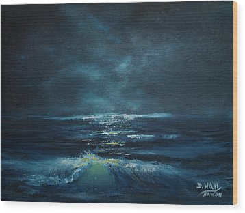 Hawaiian Enchanted Sea #431 Wood Print by Donald k Hall