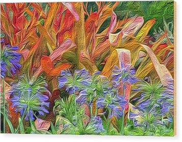 Hawaiian Flowers Wood Print by Paige Harre