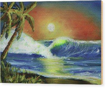 Hawaiian Moon #399 Wood Print by Donald k Hall
