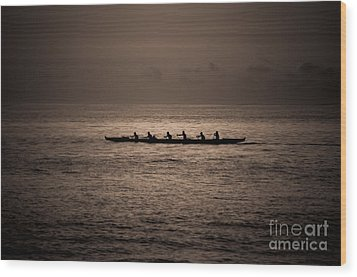 Wood Print featuring the photograph Hawaiian Outrigger by Kelly Wade