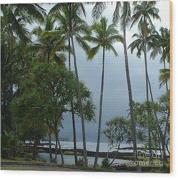 Hawaiian Paradise Wood Print by Garnett  Jaeger