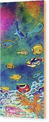 Hawaiian Reef  Fish #223 Wood Print by Donald k Hall