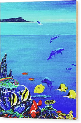 Hawaiian Reef Fish Nimo #193 Wood Print by Donald k Hall