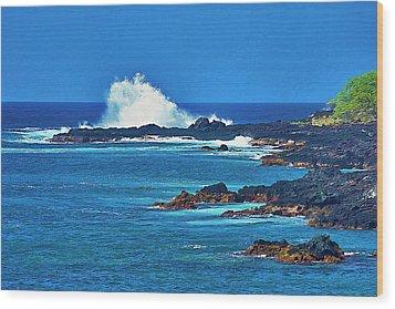 Hawaiian Seascape Wood Print