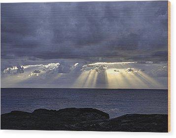 Hawaiian Sunrise Wood Print by Mike Herdering