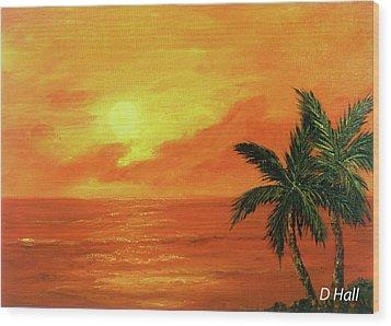 Hawaiian Sunset #27 Wood Print by Donald k Hall