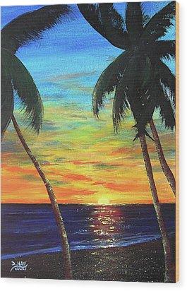 Hawaiian Sunset #340 Wood Print by Donald k Hall