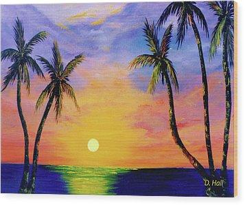 Hawaiian Sunset #36 Wood Print by Donald k Hall