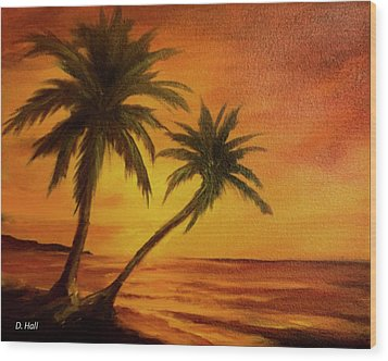 Hawaiian Sunset #380 Wood Print by Donald k Hall