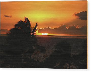 Wood Print featuring the photograph Hawaiian Sunset by Anthony Jones