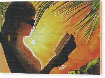 Hawaiian Sunset Catching The Last Rays #132 Wood Print by Donald k Hall