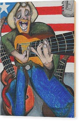 Hawaiian-texas-tunes Wood Print by Billy Knows