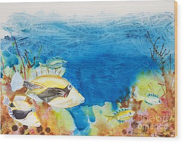 Hawaiian Triggerfish Wood Print by Tanya L Haynes - Printscapes