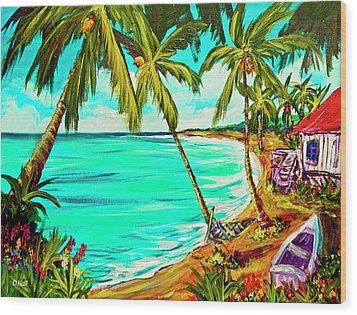 Hawaiian Tropical Beach #355 Wood Print by Donald k Hall