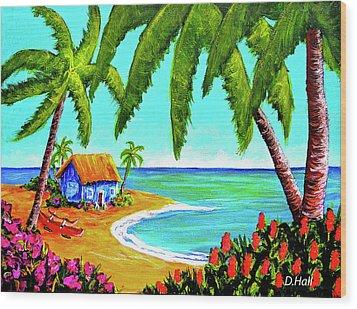 Hawaiian Tropical Beach  #364 Wood Print by Donald k Hall