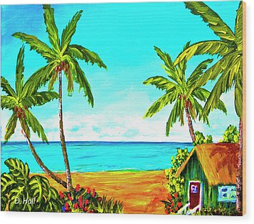 Hawaiian Tropical Beach #366  Wood Print by Donald k Hall