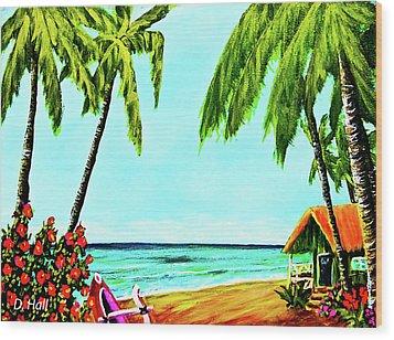 Hawaiian Tropical Beach #367  Wood Print by Donald k Hall