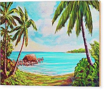 Hawaiian Tropical Beach #388 Wood Print by Donald k Hall