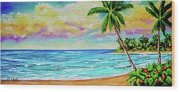 Hawaiian Tropical Beach #408 Wood Print by Donald k Hall