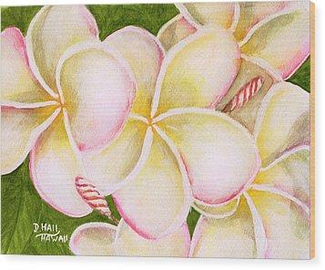 Hawaiian Tropical Plumeria Flower #483 Wood Print by Donald k Hall
