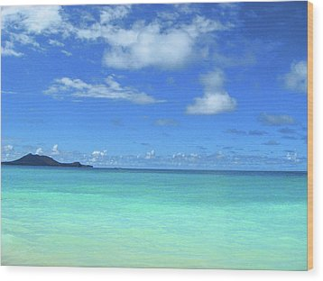 Hawaiian Waters Wood Print by Kerri Ligatich
