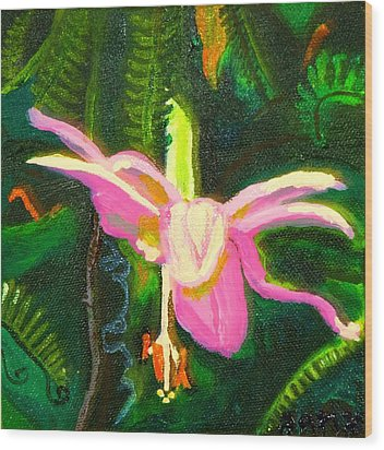 Hawaiian Wildflower Wood Print by Angela Annas