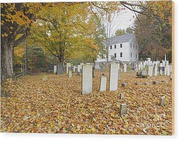 Hawke Meetinghouse - Danville New Hampshire Wood Print by Erin Paul Donovan