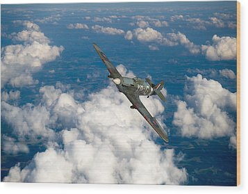 Wood Print featuring the photograph Hawker Hurricane IIb Of 174 Squadron by Gary Eason