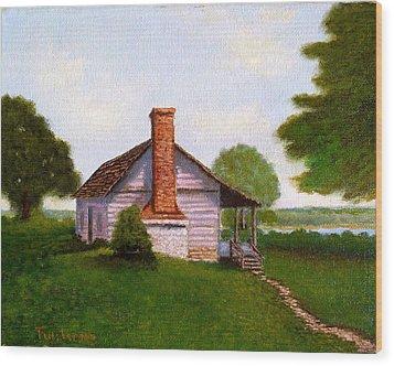 Hawkeye Cabin Wood Print
