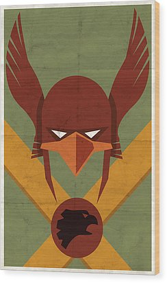 Hawkman Wood Print by Michael Myers