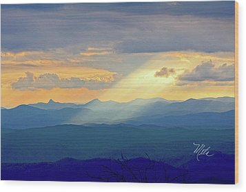 Hawks Bill Mountain Sunset Wood Print