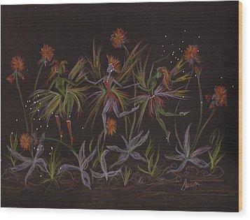Hawkweed Dance Wood Print by Dawn Fairies